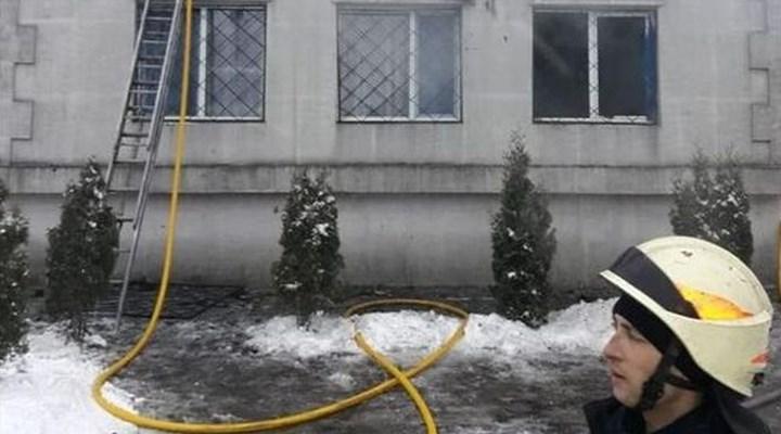 Ukrayna'daki huzur evinde yangın faciası yaşandı 13 ölü