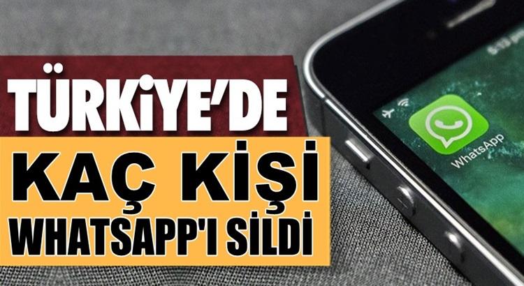 Whatsapp'ı Türkiye'de kaç kişi telefonundan sildi