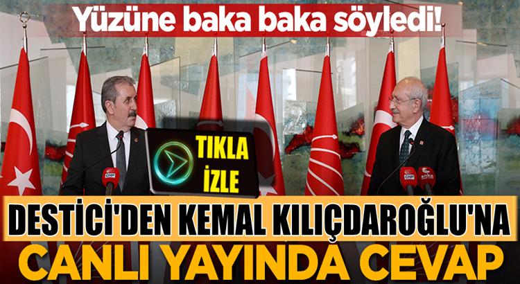 BBP Lideri Mustafa Destici'den Kemal Kılıçdaroğlu'na kapak