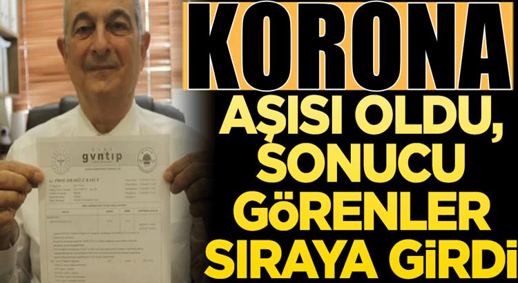 Bursa'da Profesör Korona Aşısı oldu sonucu gören kuyruğa girdi