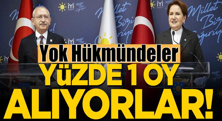 CHP ve İYİ Parti doğu bölgelerinde yok hükmünde!