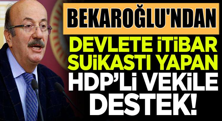 CHP'li Mehmet Bekaroğlu'dan HDP'li Gergerlioğlu'na destek