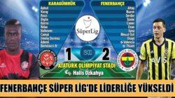 Fenerbahçe, deplasmanda Fatih Karagümrük'ü yenerek liderliğe yükseldi