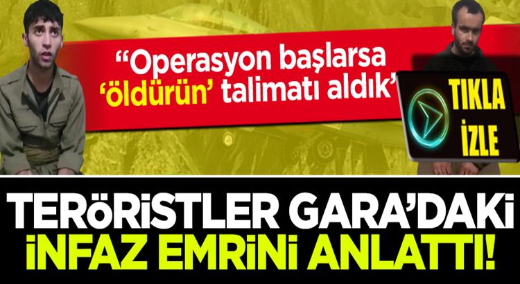 Gara operasyonunda yakalanan PKK'lı teröristlerden itiraflar