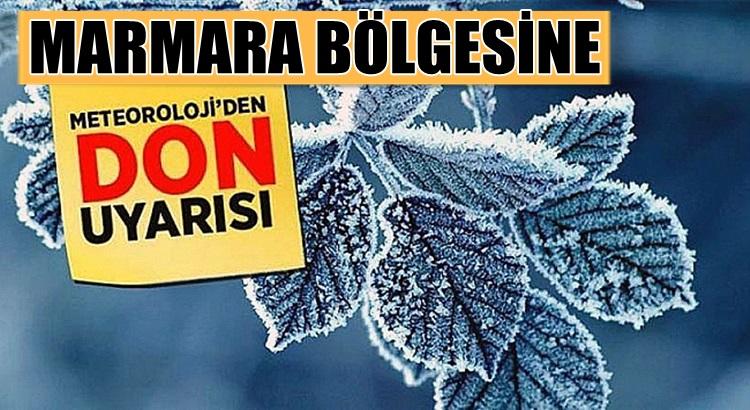Marmara bölgesine kar yağışı buzlanma ve don uyarısı yapıldı
