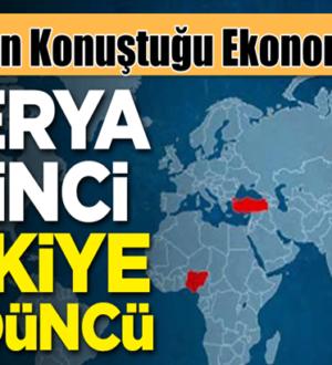 Nijerya birinci Türkiye dünyada dördüncü sırayı paylaştılar