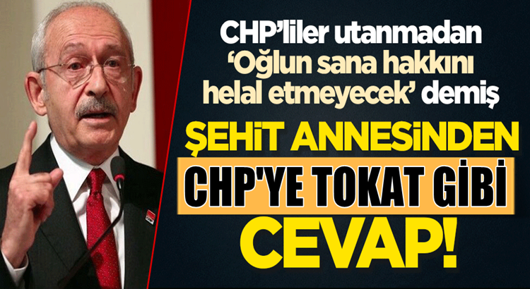 Şehit polis memuru Vedat Kaya'nın annesi Emine Kaya'dan CHP'ye cevap