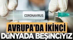 Türkiye Koronavirüs Aşılamasında Avrupa'da ikinci dünyada beşinci
