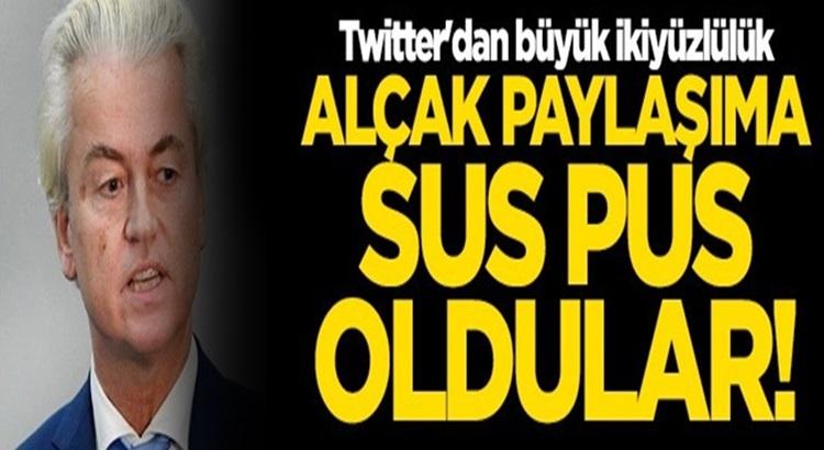 Twitter'dan Bahçeli'ye Süleyman Soylu'ya sansür Geert Wilders serbestlik