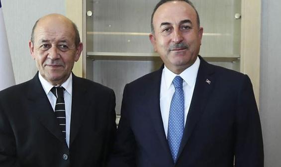 Mevlüt Çavuşoğlu Fransa Dışişleri Bakanı Jean-Yves ile görüştü