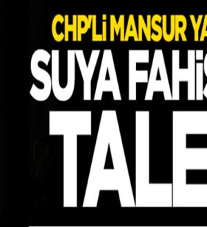 CHP'li Mansur Yavaş Ankara için suya yüzde 80 zam teklifi