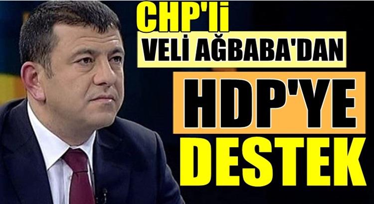 CHP'li Veli Ağbaba'dan HDP ve PKK'ya açıkça destek