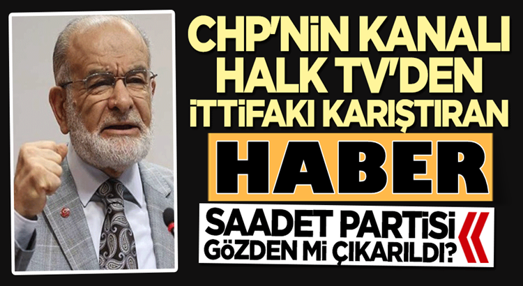 CHP'nin kanalı Halk Tv'de Saadet Partisi'ne verip veriştirdiler