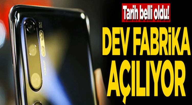Çin Merkezli  Xiaomi'nin İstanbul Avcılar Fabrika açıyor