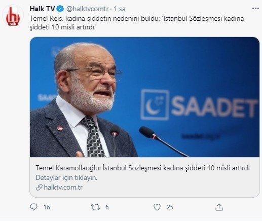 Halk TV'nin bu haberiyle, özellikle son dönemde Saadet Partisi'ni saflarına katmak için hamleler yapan Cumhur İttifakı'nın ekmeğine yağ sürüldüğü gibi yorumların yapılmasına neden oldu.