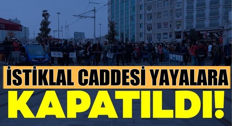 İstanbul İstiklal caddesi Koronavirüs sebebiyle kapatıldı