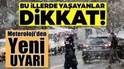 Meteoroloji'den Türkiye geneli için yeni hava durumu uyarısı