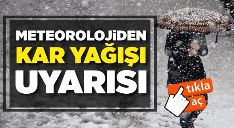 Meteoroloji'den Türkiye'de 9 şehire yoğun kar yağışı uyarısı!