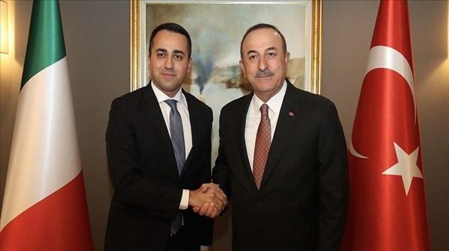 Mevlüt Çavuşoğlu, İtalyan mevkidaşı Luigi Di Maio ile görüştü