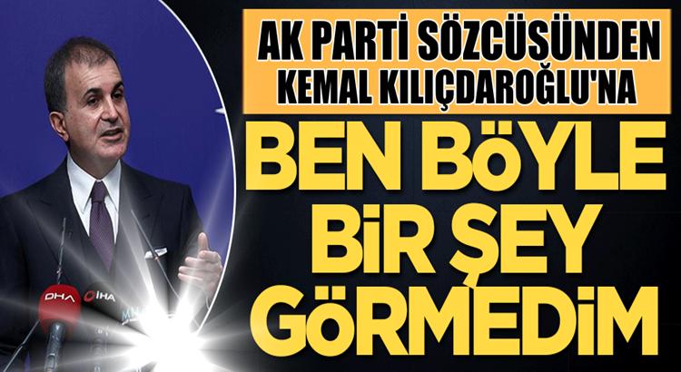Ak Parti Söcüsü Ömer Çelik'ten Kılıçdaroğlu'nu topa tuttu