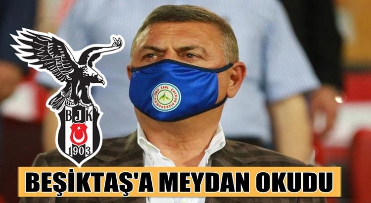 Beşiktaş'a, Rizespor Başkanı Hasan Kartal'dan olay çıkış