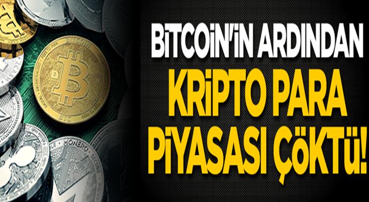 Bitcoin'in düşüşyaşaması sonrasında kripto para piyasası çöktü!