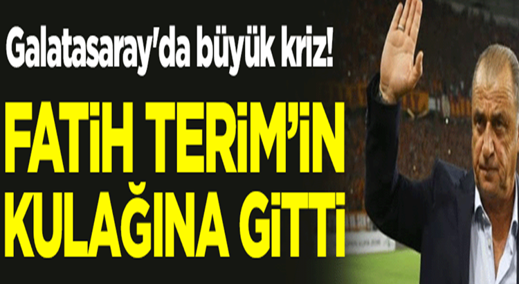 Galatasaray'da Fatih Terim krizi gün geçtikçe büyümeye devam ediyor