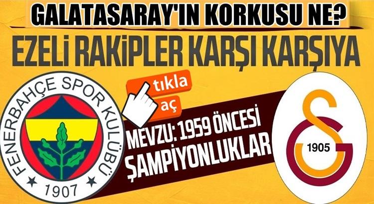 Gatasaray, Fenerbahçe'nin 1959 şampiyonlukları için TFF'ye başvurdu