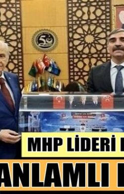 MHP Lideri Devlet Bahçeli'ye Eyyup Yıldız'dan anlamlı hediye