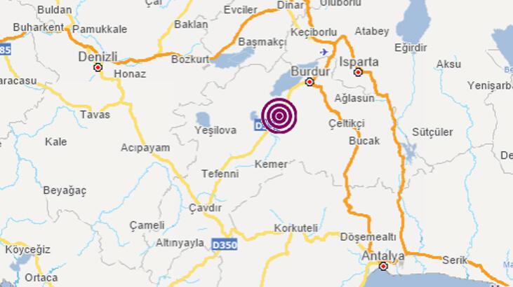 AFAD açıkladı Burdur'da 3.5 büyüklüğünde deprem!