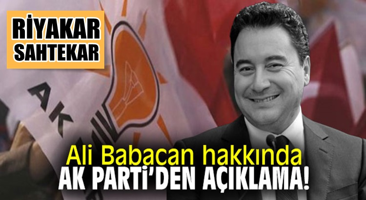 Ak Parti'li Fatih Şahin'den Ali Babacan'a tepki: Riyakarlık, sahtekarlık