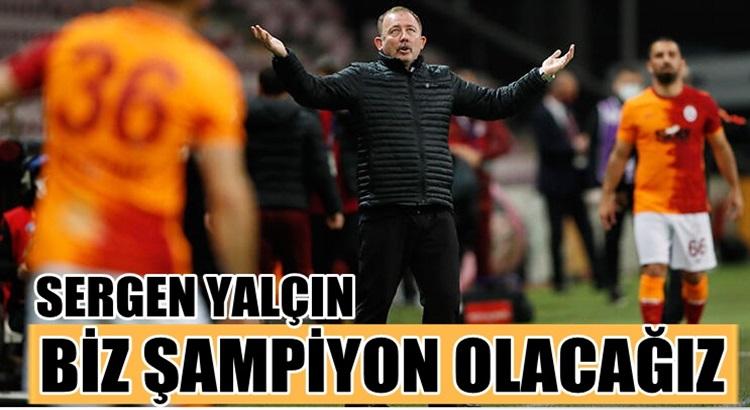 Beşiktaş Teknik Direktörü Sergen Yalçın Şampiyon olacağız