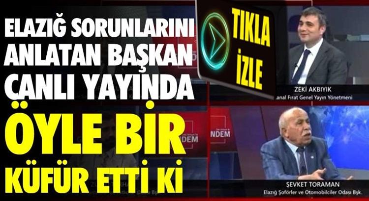Elazığ'da yayın yapan Kanal Fırat'ta akıl dışı küfür video Radyo Mega'da