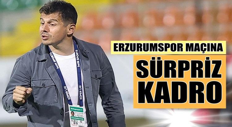 Emre Belözoğlu'dan Erzurumspor maçına sürpriz kadro