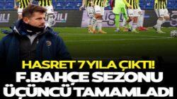 Fenerbahçe Süper Lig'in son maçında Kayserispor'u son anda yendi