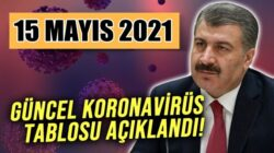 Koronavirüs 15 Mayıs 2021 tablosunu Bakan Fahrettin Koca açıkladı