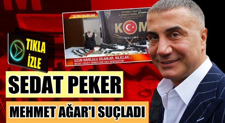 Sedat Peker Mehmet Ağar'ı suçladı ve intikam yemini etti
