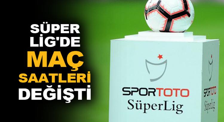 Süper Lig maç saatlerini TFF değiştirdi yeni saatler Radyo Mega'da