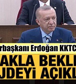 Cumhurbaşkanı Erdoğan KKTC'den dünyaya seslendi