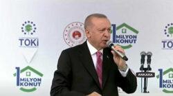 Cumhurbaşkanı Erdoğan Toki'nin 1 milyonuncu evini sahibine teslim etti