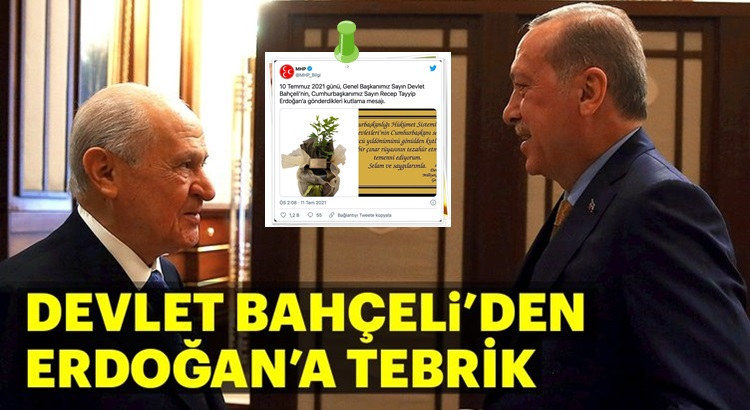 MHP lideri Devlet Bahçeli'den Cumhurbaşkanı Erdoğan'a tebrik mesajı!