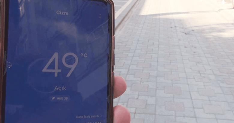 Şırnak'ın Cizre ilçesinde Türkiye'nin sıcaklık rekoru kırıldı