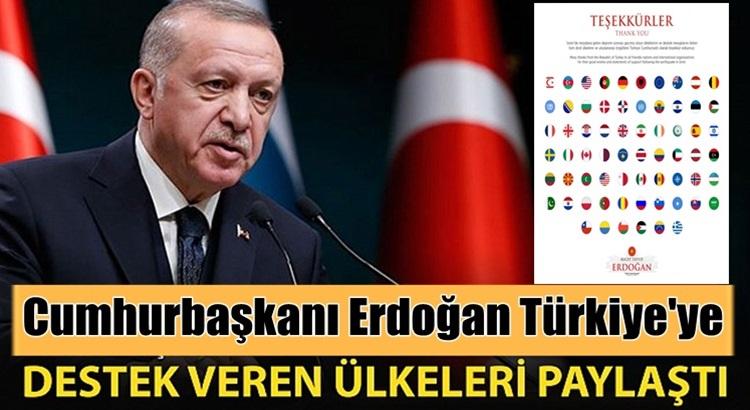 Cumhurbaşkanı Erdoğan yangınlara destek veren ülkelere teşekkür mesajı