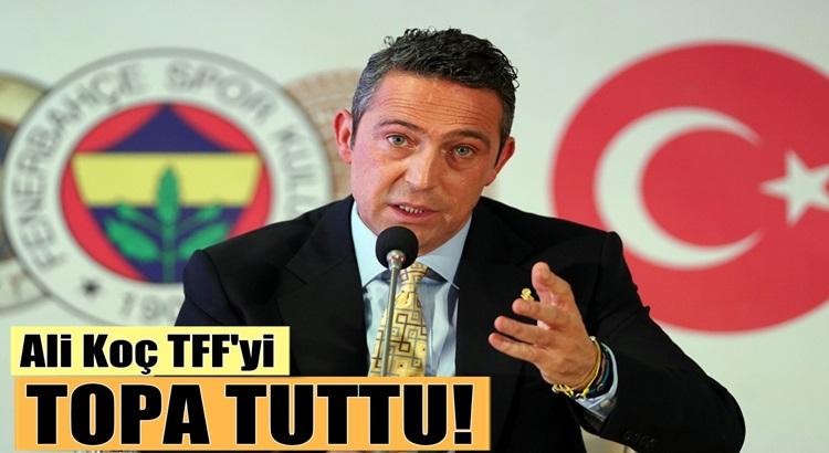 Fenerbahçe Başkanı Ali Koç TFF'yi UEFA Kura çekimi sonrası topa tuttu