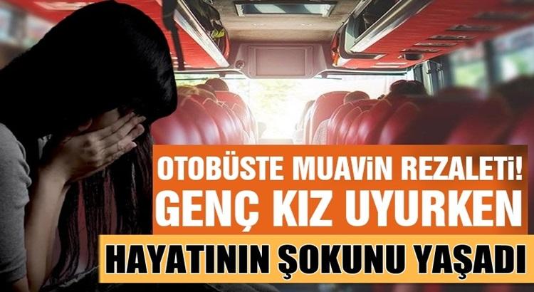Muğala'dan Zonguldağa Giden otobüste muavinden rezillik
